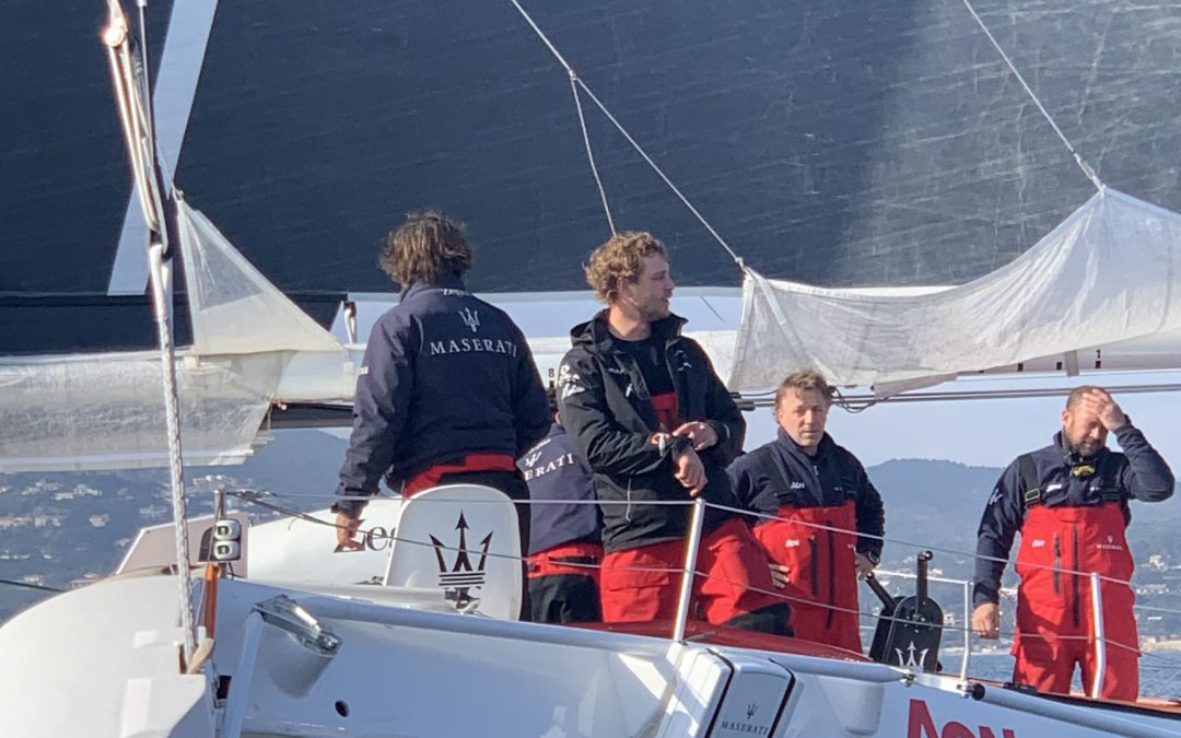 Speed record for Giovanni Soldini and Pierre Casiraghi between Monaco and Saint-Tropez